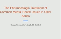 Treatment of Common Mental Health Issues in Older Adults