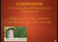 Constipation: Promoting Bowel Regularity in Older Adults